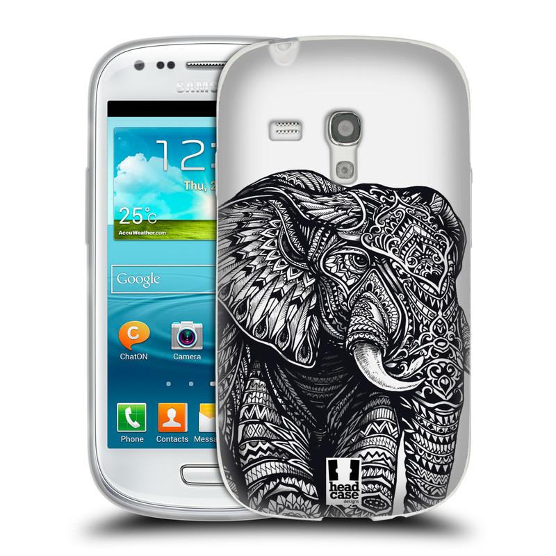 Silikonové pouzdro na mobil Samsung Galaxy S3 Mini VE HEAD CASE Zdobený Slon (Silikonový kryt či obal na mobilní telefon Samsung Galaxy S3 Mini VE GT-i8200)