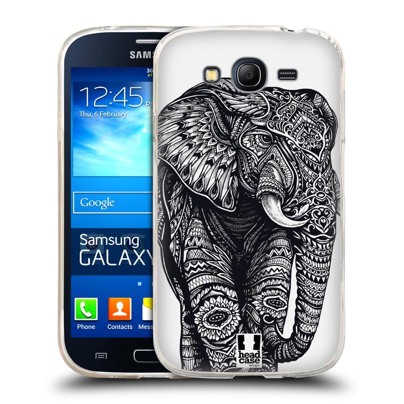 Silikonové pouzdro na mobil Samsung Galaxy Grand Neo HEAD CASE Zdobený Slon (Silikonový kryt či obal na mobilní telefon Samsung Galaxy Grand Neo GT-I9060)