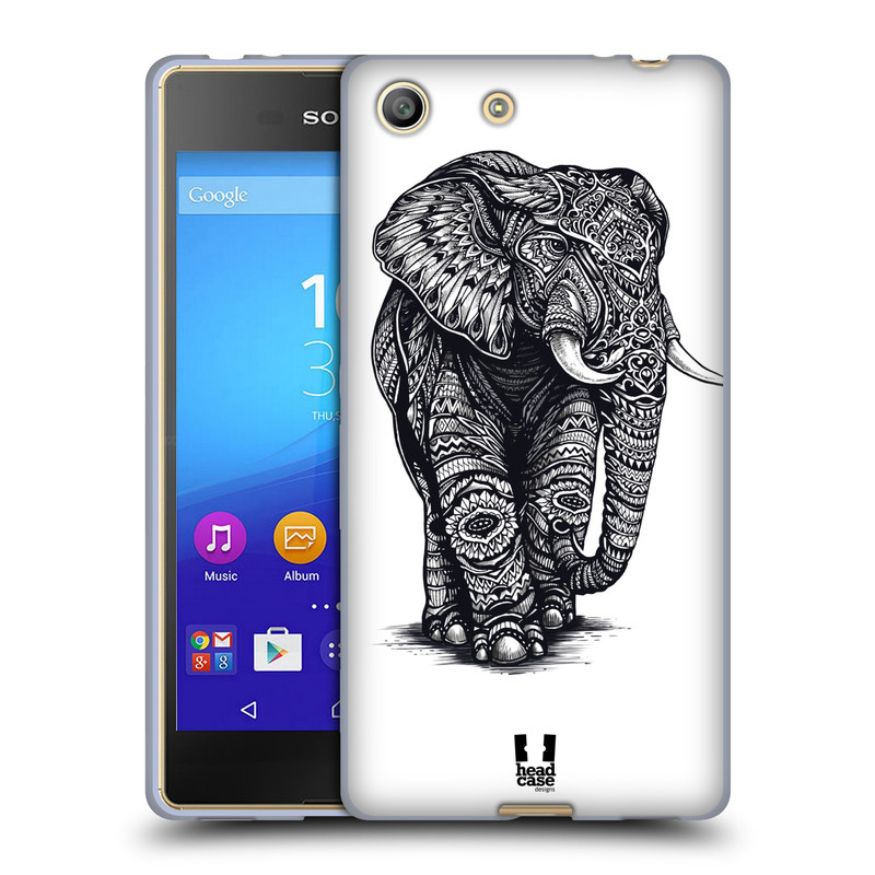 Silikonové pouzdro na mobil Sony Xperia M5 HEAD CASE Zdobený Slon (Silikonový kryt či obal na mobilní telefon Sony Xperia M5 Dual SIM / Aqua)