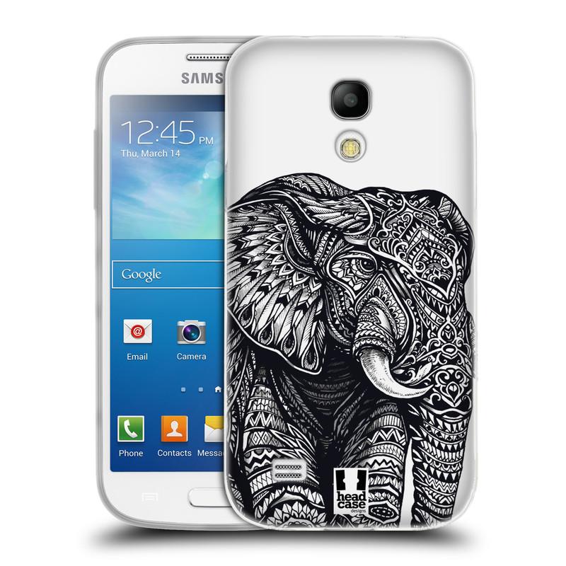 Silikonové pouzdro na mobil Samsung Galaxy S4 Mini HEAD CASE Zdobený Slon (Silikonový kryt či obal na mobilní telefon Samsung Galaxy S4 Mini GT-i9195 / i9190)