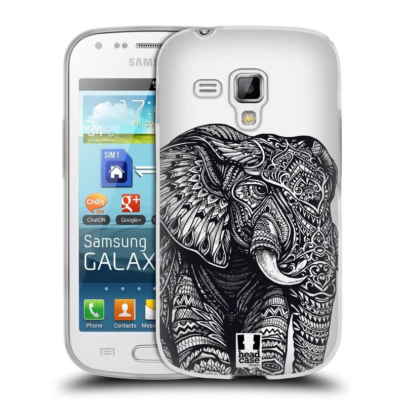 Silikonové pouzdro na mobil Samsung Galaxy S Duos HEAD CASE Zdobený Slon (Silikonový kryt či obal na mobilní telefon Samsung Galaxy S Duos GT-S7562)