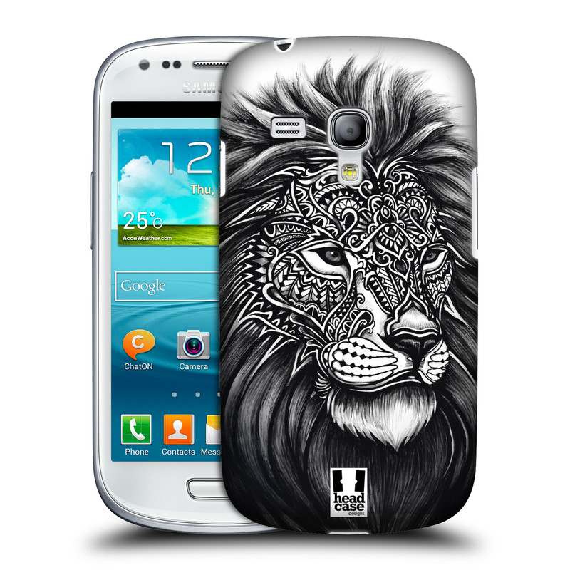 Plastové pouzdro na mobil Samsung Galaxy S III Mini HEAD CASE Zdobený Lev (Plastový kryt či obal na mobilní telefon Samsung Galaxy S III Mini GT-i8190)