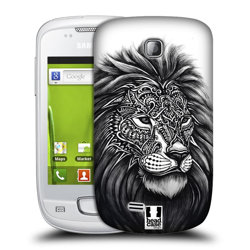 Plastové pouzdro na mobil Samsung Galaxy Mini HEAD CASE Zdobený Lev (Plastový kryt či obal na mobilní telefon Samsung Galaxy Mini GT-S5570 / GT-S5570i)