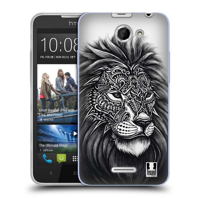 Silikonové pouzdro na mobil HTC Desire 516 HEAD CASE Zdobený Lev (Silikonový kryt či obal na mobilní telefon HTC Desire 516 Dual SIM)