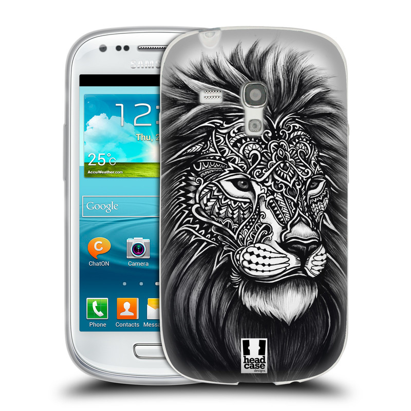 Silikonové pouzdro na mobil Samsung Galaxy S3 Mini VE HEAD CASE Zdobený Lev (Silikonový kryt či obal na mobilní telefon Samsung Galaxy S3 Mini VE GT-i8200)