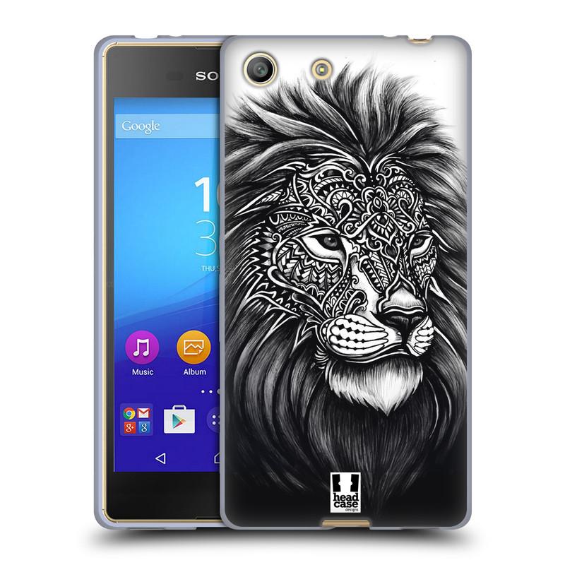 Silikonové pouzdro na mobil Sony Xperia M5 HEAD CASE Zdobený Lev (Silikonový kryt či obal na mobilní telefon Sony Xperia M5 Dual SIM / Aqua)