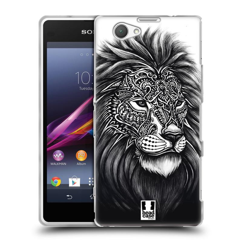 Silikonové pouzdro na mobil Sony Xperia Z1 Compact D5503 HEAD CASE Zdobený Lev (Silikonový kryt či obal na mobilní telefon Sony Xperia Z1 Compact)