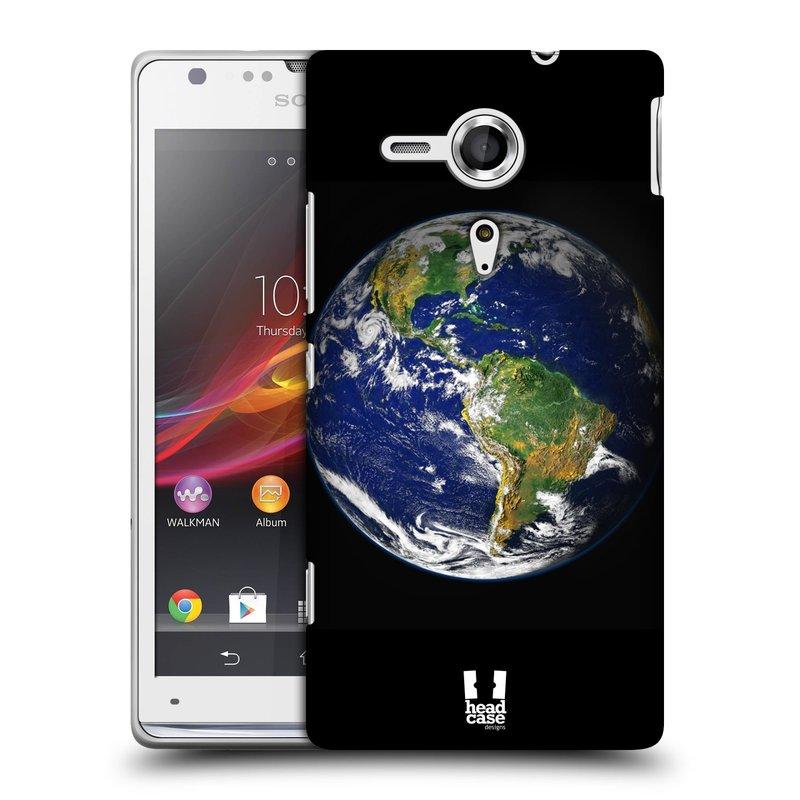 Plastové pouzdro na mobil Sony Xperia SP C5303 HEAD CASE ZEMĚ (Kryt či obal na mobilní telefon Sony Xperia SP )