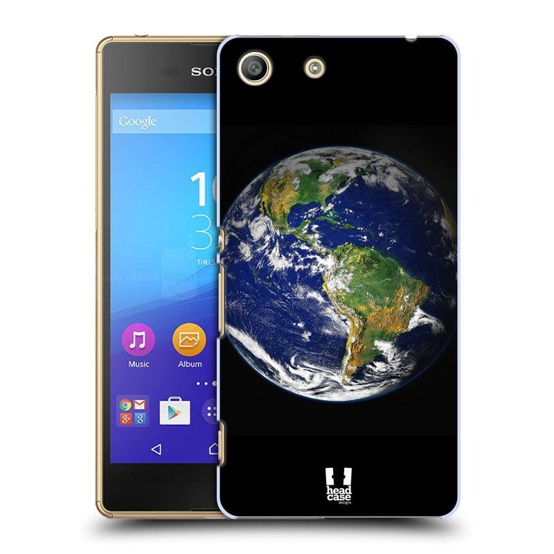 Plastové pouzdro na mobil Sony Xperia M5 HEAD CASE ZEMĚ (Kryt či obal na mobilní telefon Sony Xperia M5 Aqua)