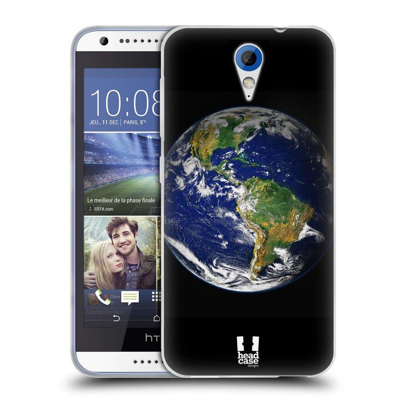 Silikonové pouzdro na mobil HTC Desire 620 HEAD CASE ZEMĚ (Silikonový kryt či obal na mobilní telefon HTC Desire 620)