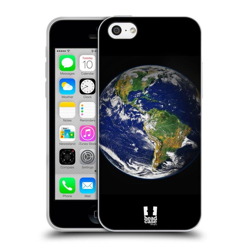 Silikonové pouzdro na mobil Apple iPhone 5C HEAD CASE ZEMĚ (Silikonový kryt či obal na mobilní telefon Apple iPhone 5C)