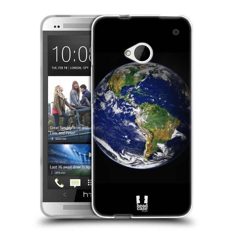 Silikonové pouzdro na mobil HTC ONE M7 HEAD CASE ZEMĚ (Silikonový kryt či obal na mobilní telefon HTC ONE M7)