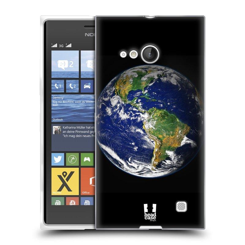 Silikonové pouzdro na mobil Nokia Lumia 735 HEAD CASE ZEMĚ (Silikonový kryt či obal na mobilní telefon Nokia Lumia 735)
