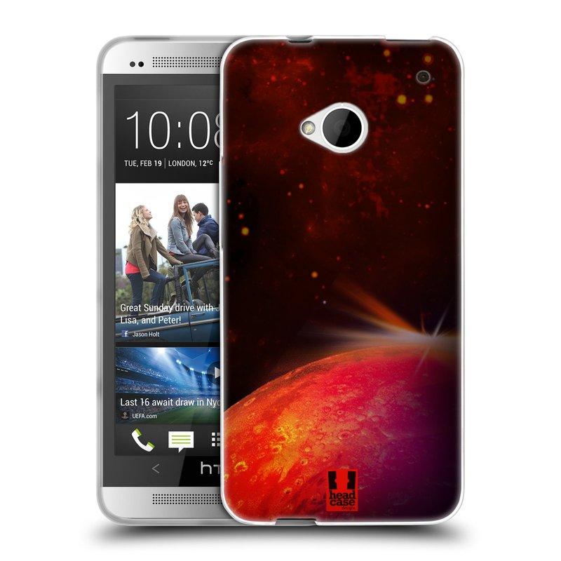 Silikonové pouzdro na mobil HTC ONE M7 HEAD CASE MARS (Silikonový kryt či obal na mobilní telefon HTC ONE M7)
