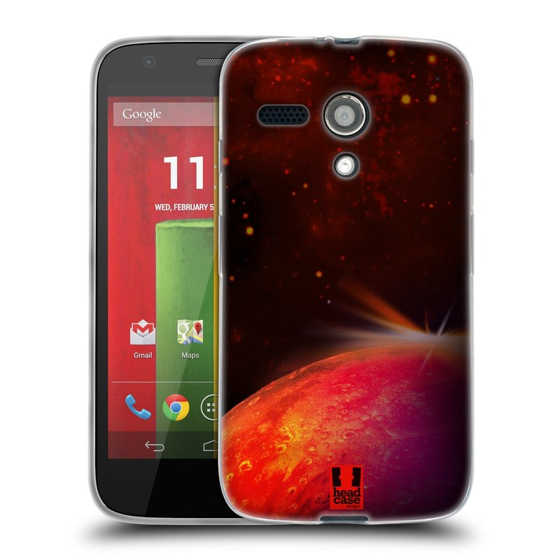 Silikonové pouzdro na mobil Motorola Moto G HEAD CASE MARS (Silikonový kryt či obal na mobilní telefon Motorola Moto G)