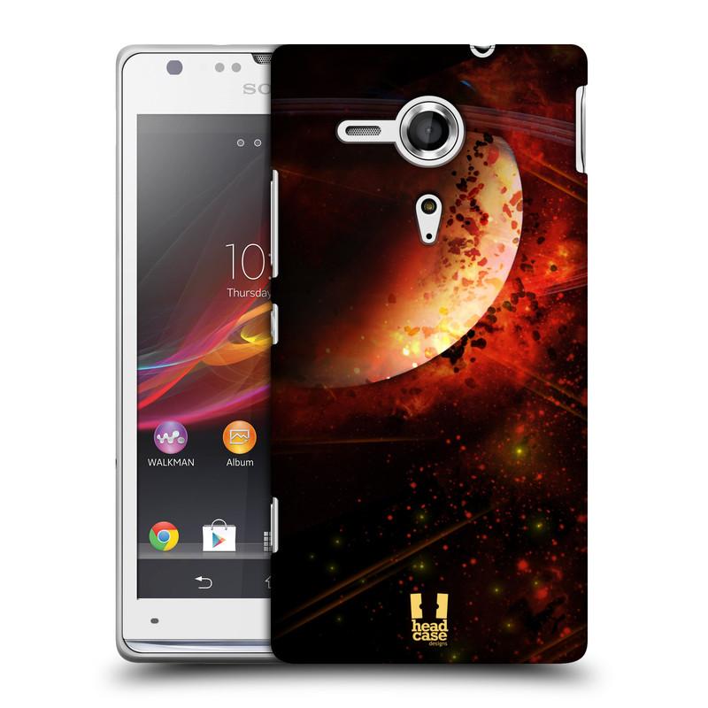 Plastové pouzdro na mobil Sony Xperia SP C5303 HEAD CASE SATURN (Kryt či obal na mobilní telefon Sony Xperia SP )