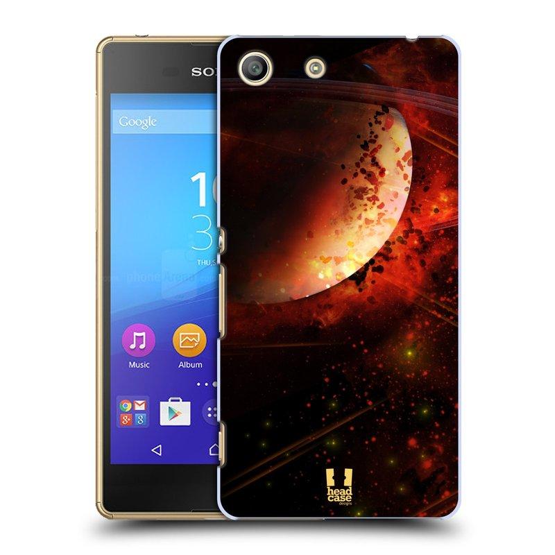 Plastové pouzdro na mobil Sony Xperia M5 HEAD CASE SATURN (Kryt či obal na mobilní telefon Sony Xperia M5 Aqua)