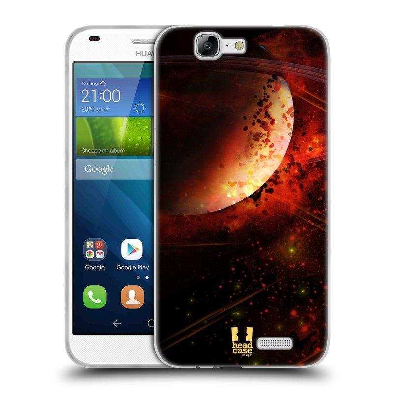 Silikonové pouzdro na mobil Huawei Ascend G7 HEAD CASE SATURN (Silikonový kryt či obal na mobilní telefon Huawei Ascend G7)