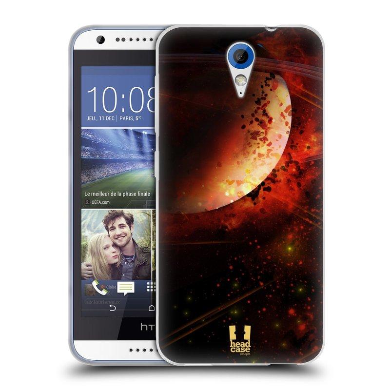 Silikonové pouzdro na mobil HTC Desire 620 HEAD CASE SATURN (Silikonový kryt či obal na mobilní telefon HTC Desire 620)