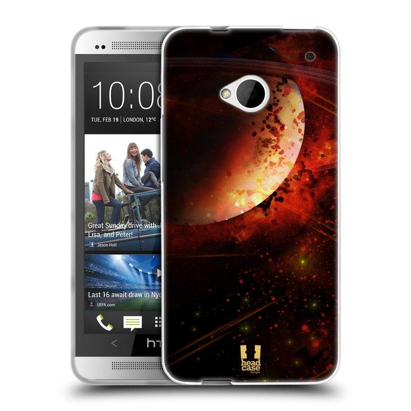 Silikonové pouzdro na mobil HTC ONE M7 HEAD CASE SATURN (Silikonový kryt či obal na mobilní telefon HTC ONE M7)