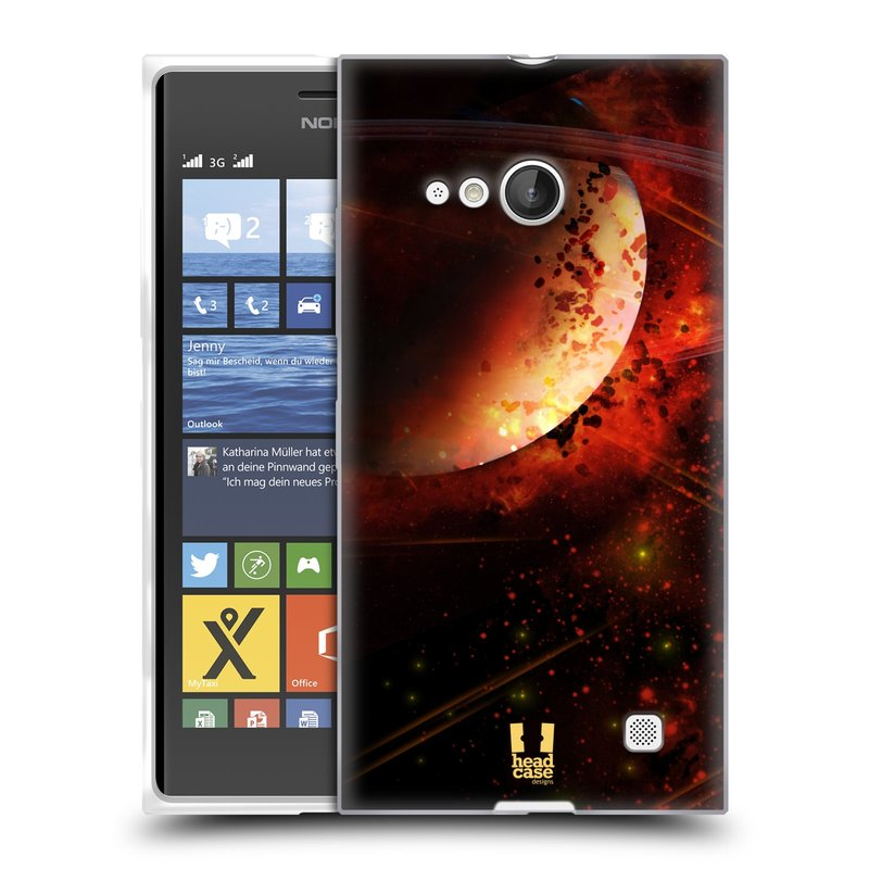 Silikonové pouzdro na mobil Nokia Lumia 735 HEAD CASE SATURN (Silikonový kryt či obal na mobilní telefon Nokia Lumia 735)