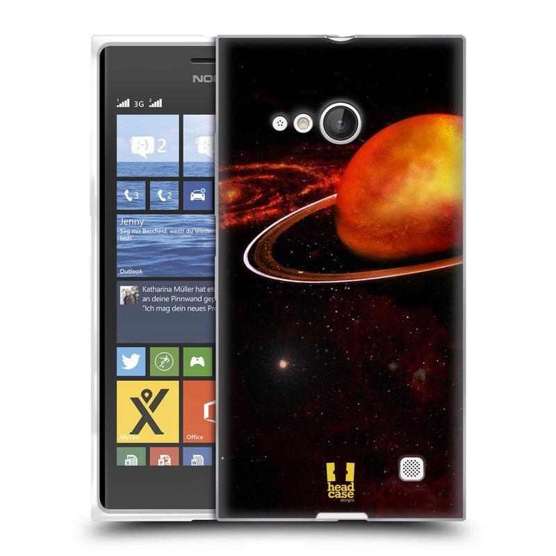 Silikonové pouzdro na mobil Nokia Lumia 735 HEAD CASE URAN (Silikonový kryt či obal na mobilní telefon Nokia Lumia 735)