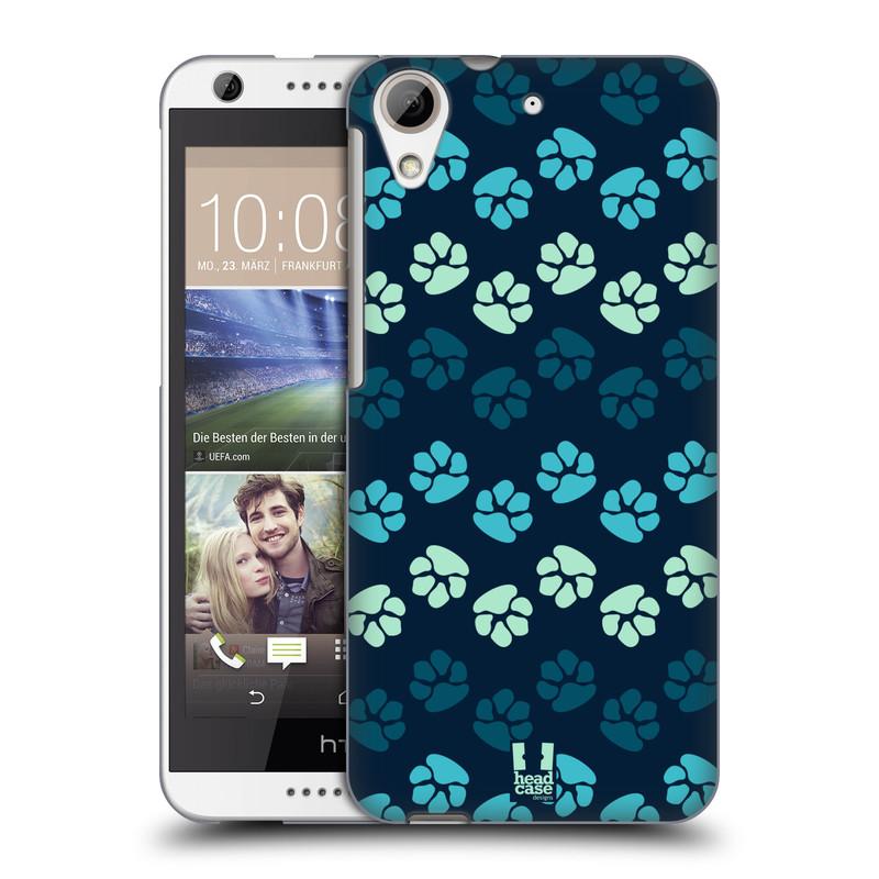 Plastové pouzdro na mobil HTC Desire 626 / 626G HEAD CASE TLAPKY MODRÉ (Kryt či obal na mobilní telefon HTC Desire 626G Dual SIM a HTC Desire 626)