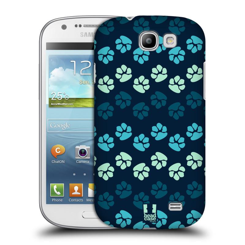 Plastové pouzdro na mobil Samsung Galaxy Express HEAD CASE TLAPKY MODRÉ (Kryt či obal na mobilní telefon Samsung Galaxy Express GT-i8730)