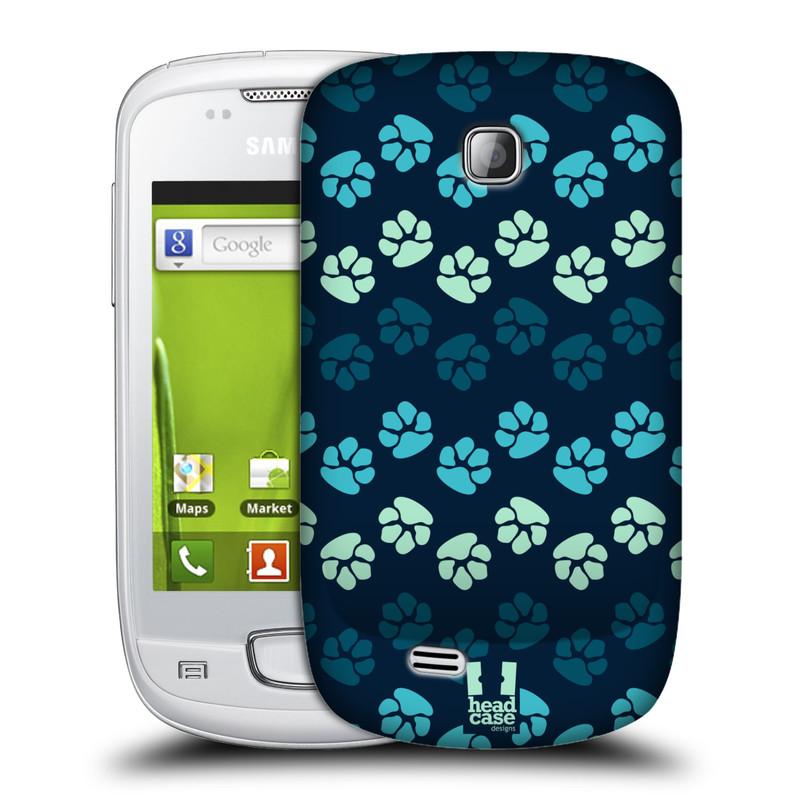 Plastové pouzdro na mobil Samsung Galaxy Mini HEAD CASE TLAPKY MODRÉ (Kryt či obal na mobilní telefon Samsung Galaxy Mini GT-S5570 / GT-S5570i)
