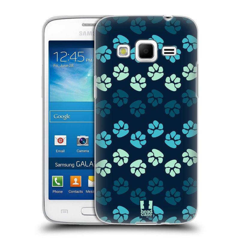 Silikonové pouzdro na mobil Samsung Galaxy Express 2 HEAD CASE TLAPKY MODRÉ (Silikonový kryt či obal na mobilní telefon Samsung Galaxy Express 2 SM-G3815)