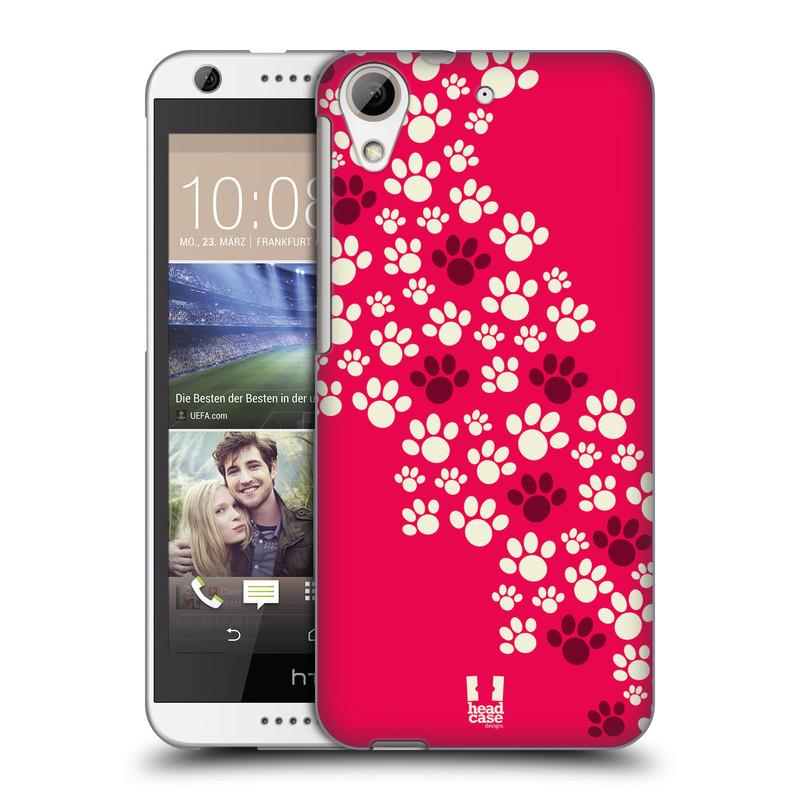 Plastové pouzdro na mobil HTC Desire 626 / 626G HEAD CASE TLAPKY RŮŽOVÉ (Kryt či obal na mobilní telefon HTC Desire 626G Dual SIM a HTC Desire 626)