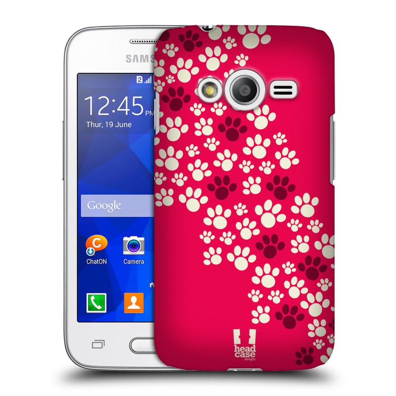 Plastové pouzdro na mobil Samsung Galaxy Trend 2 Lite HEAD CASE TLAPKY RŮŽOVÉ (Kryt či obal na mobilní telefon Samsung Galaxy Trend 2 Lite SM-G318)