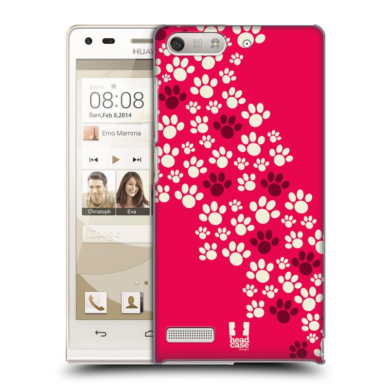 Plastové pouzdro na mobil Huawei Ascend G6 HEAD CASE TLAPKY RŮŽOVÉ (Kryt či obal na mobilní telefon Huawei Ascend G6 bez LTE)