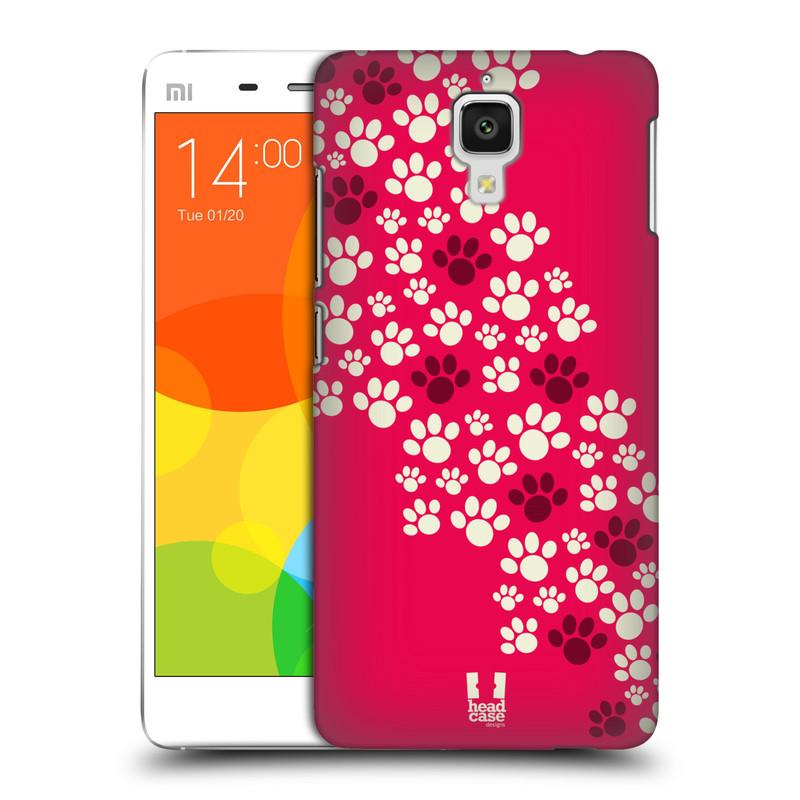 Plastové pouzdro na mobil Doogee Hitman DG850 HEAD CASE TLAPKY RŮŽOVÉ (Kryt či obal na mobilní telefon Doogee Hitman DG850)