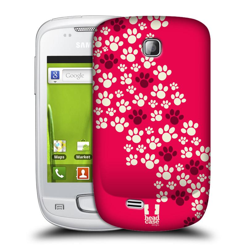 Plastové pouzdro na mobil Samsung Galaxy Mini HEAD CASE TLAPKY RŮŽOVÉ (Kryt či obal na mobilní telefon Samsung Galaxy Mini GT-S5570 / GT-S5570i)