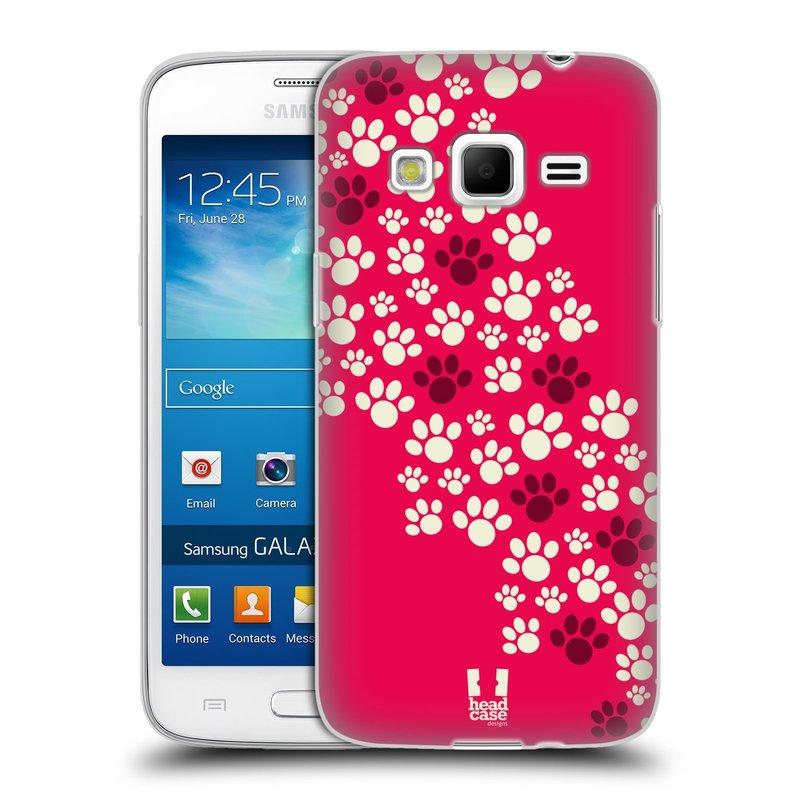 Silikonové pouzdro na mobil Samsung Galaxy Express 2 HEAD CASE TLAPKY RŮŽOVÉ (Silikonový kryt či obal na mobilní telefon Samsung Galaxy Express 2 SM-G3815)