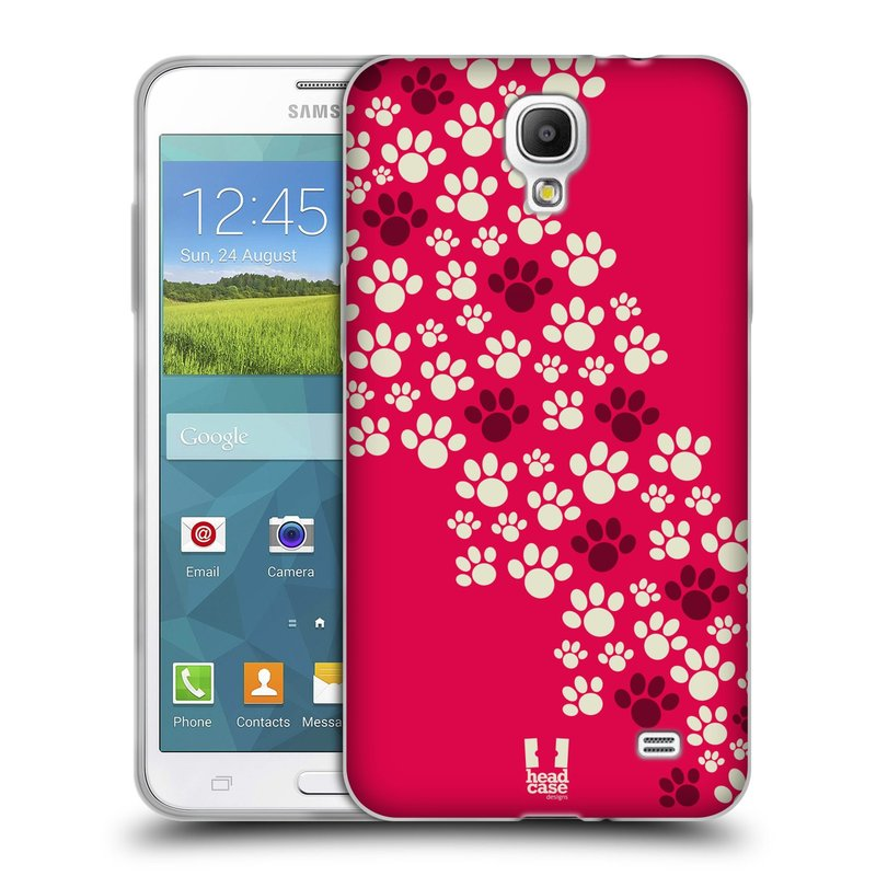Silikonové pouzdro na mobil Samsung Galaxy Grand Mega 2 HEAD CASE TLAPKY RŮŽOVÉ (Silikonový kryt či obal na mobilní telefon Samsung Galaxy Grand Mega 2 SM-G750)