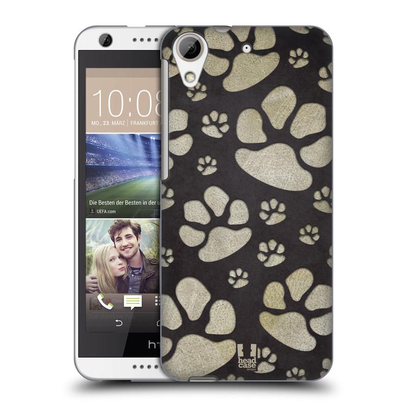 Plastové pouzdro na mobil HTC Desire 626 / 626G HEAD CASE TLAPKY ŠEDÉ (Kryt či obal na mobilní telefon HTC Desire 626G Dual SIM a HTC Desire 626)