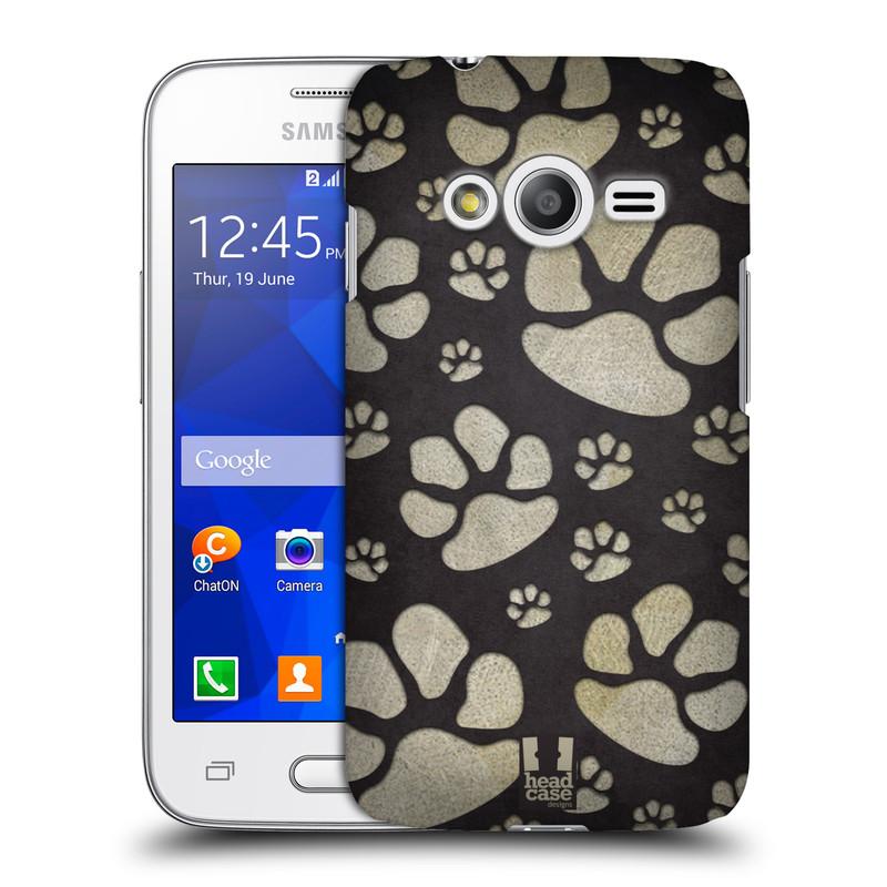 Plastové pouzdro na mobil Samsung Galaxy Trend 2 Lite HEAD CASE TLAPKY ŠEDÉ (Kryt či obal na mobilní telefon Samsung Galaxy Trend 2 Lite SM-G318)
