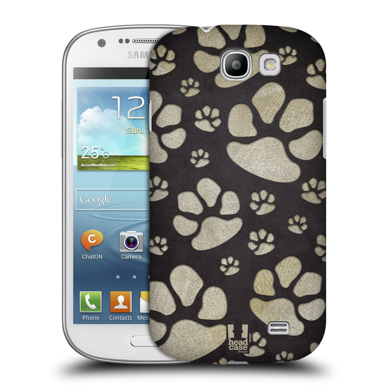 Plastové pouzdro na mobil Samsung Galaxy Express HEAD CASE TLAPKY ŠEDÉ (Kryt či obal na mobilní telefon Samsung Galaxy Express GT-i8730)