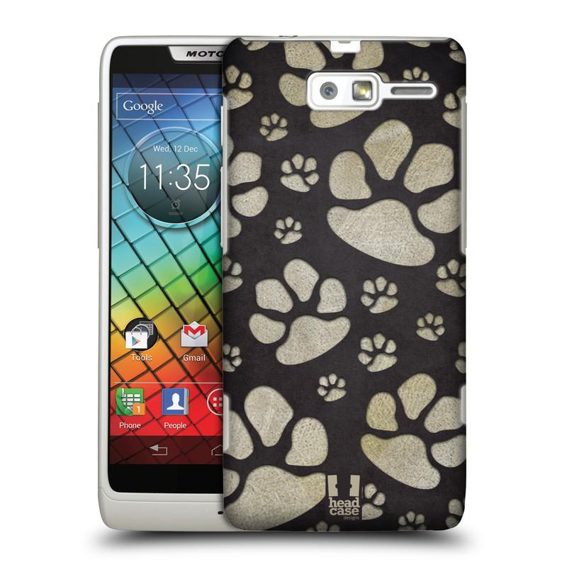 Plastové pouzdro na mobil Motorola Razr i XT890 HEAD CASE TLAPKY ŠEDÉ (Kryt či obal na mobilní telefon Motorola Razr i XT890)