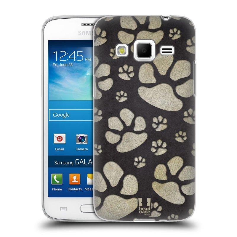 Silikonové pouzdro na mobil Samsung Galaxy Express 2 HEAD CASE TLAPKY ŠEDÉ (Silikonový kryt či obal na mobilní telefon Samsung Galaxy Express 2 SM-G3815)