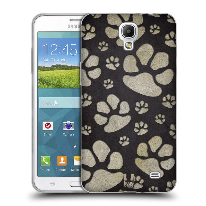Silikonové pouzdro na mobil Samsung Galaxy Grand Mega 2 HEAD CASE TLAPKY ŠEDÉ (Silikonový kryt či obal na mobilní telefon Samsung Galaxy Grand Mega 2 SM-G750)