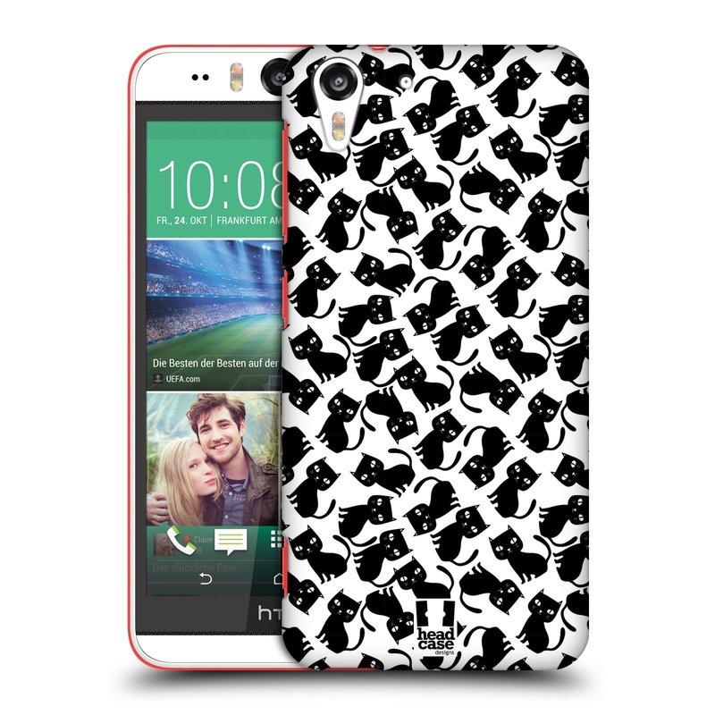 Plastové pouzdro na mobil HTC Desire EYE HEAD CASE KOČKY Black Pattern (Kryt či obal na mobilní telefon HTC Desire EYE)