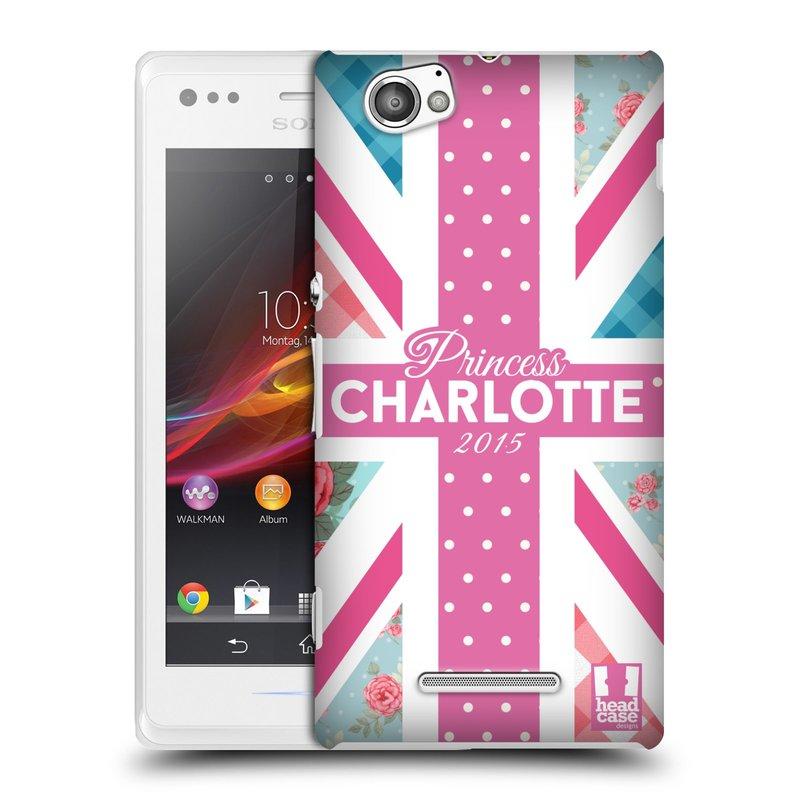 Plastové pouzdro na mobil Sony Xperia M C1905 HEAD CASE PRINCEZNIČKA CHARLOTTE (Kryt či obal na mobilní telefon Sony Xperia M a M Dual)