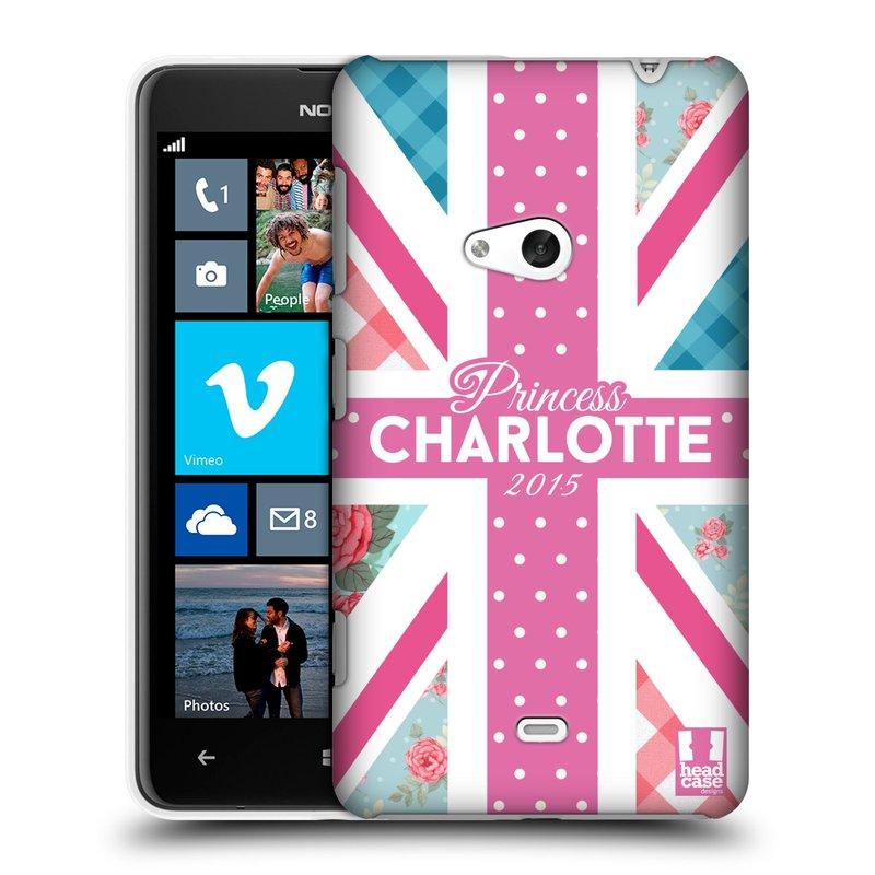 Plastové pouzdro na mobil Nokia Lumia 625 HEAD CASE PRINCEZNIČKA CHARLOTTE (Kryt či obal na mobilní telefon Nokia Lumia 625)