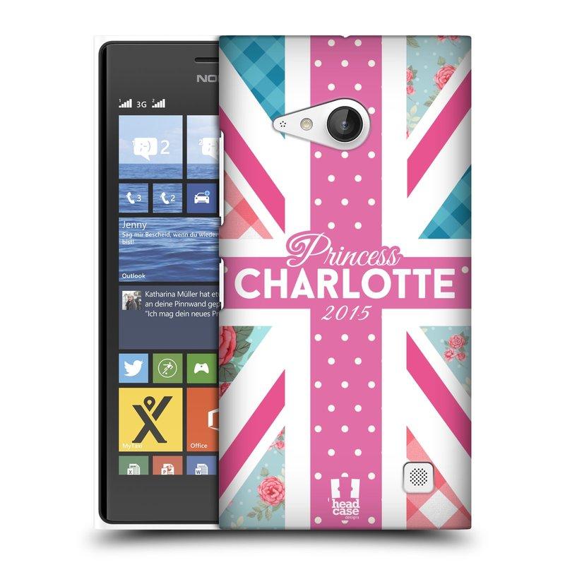 Plastové pouzdro na mobil Nokia Lumia 735 HEAD CASE PRINCEZNIČKA CHARLOTTE (Kryt či obal na mobilní telefon Nokia Lumia 735)