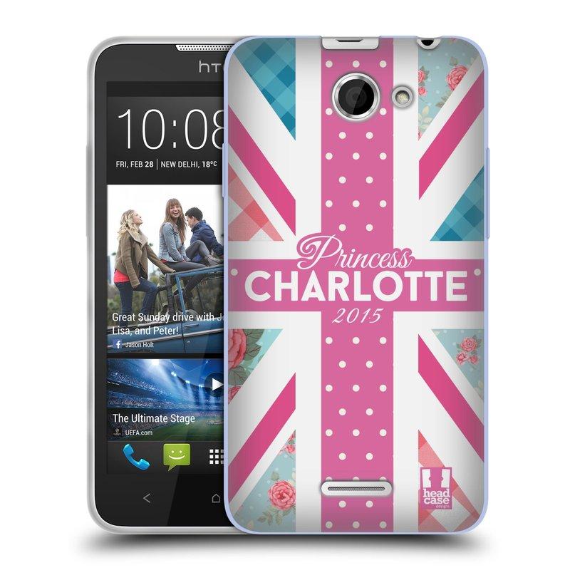 Silikonové pouzdro na mobil HTC Desire 516 HEAD CASE PRINCEZNIČKA CHARLOTTE (Silikonový kryt či obal na mobilní telefon HTC Desire 516 Dual SIM)