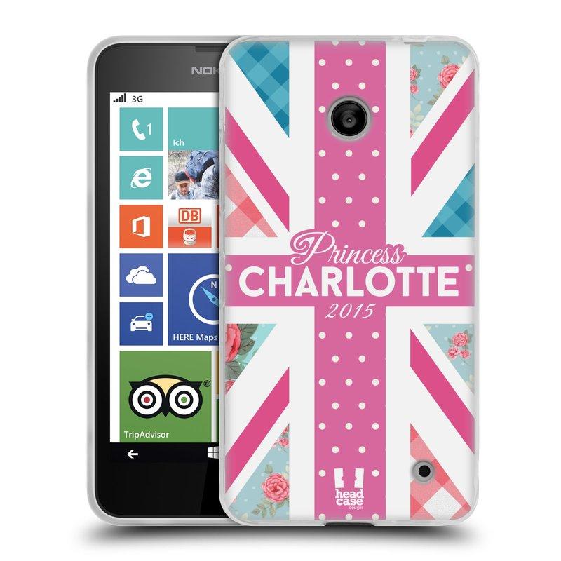 Silikonové pouzdro na mobil Nokia Lumia 630 HEAD CASE PRINCEZNIČKA CHARLOTTE (Silikonový kryt či obal na mobilní telefon Nokia Lumia 630 a Nokia Lumia 630 Dual SIM)