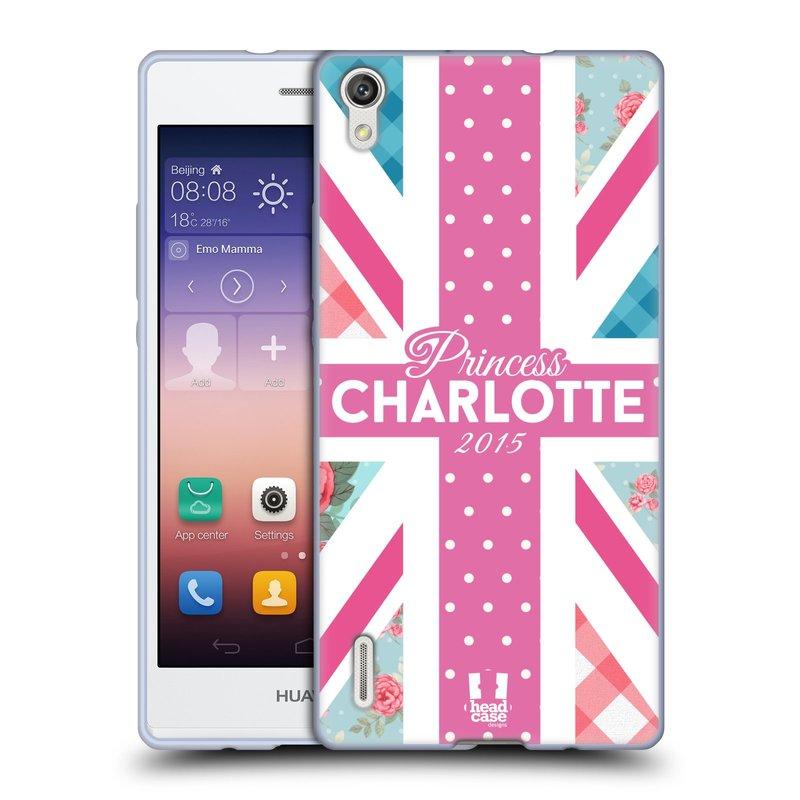 Silikonové pouzdro na mobil Huawei P7 HEAD CASE PRINCEZNIČKA CHARLOTTE (Silikonový kryt či obal na mobilní telefon Huawei Ascend P7)